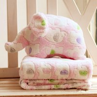 baby blankets plush - Colorful Cartoon Elephant Blanket colorway sizes in Plush Cushion Multifunctional Portable Plush Blanket Kids Baby Gifts