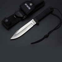Wholesale Cold Steel VG Pocket Knife Fixed Black Blade ABS Rubber Handle Cr Mov Blade Knives for Survival