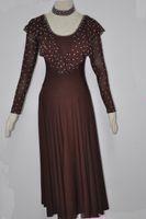 Robes de danse standard Femmes Simple Style Ballroom Valse Tango Dancing Wear Adulte Ballroom Compétition Robe
