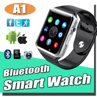 Wholesale A1 Smart Watch Bluetooth Touch Screen Smartwatch iWatch Support SIM TF Card Smart Watches For Android Smartphone With Retail Package