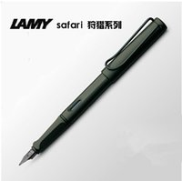 Wholesale Stainless Steel Fountain Pen Nib - Wholesale-High quality LAMY Safari series Frosted black office Fountain Pen (F)Fine nib with gift box for gifts