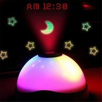 Magic star light Avis-Vente en gros Haute Qualité Nouveau 7 couleurs LED Changement Star Night Light Magic Rétroéclairage Projecteur Horloge