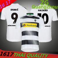 Wholesale 2017 Borussia Monchengladbach jerseys Monchengladbach shirts top quality custom name home jerseys STINDL HAZARD jerseys