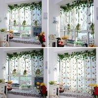 Wholesale Trendy Butterfly Pattern Roman Window Scarf Curtain Drape Voile Valances