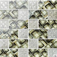 Wholesale 2017 hot sale mosaic Crystal glass mosaic background wall mosaic living room bathroom counter plating laminated tiles