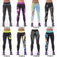 24 diseños Leggings de las mujeres Deportes Medias de funcionamiento Deportes calientes Pantalones de Legging Elaboración Negro Casual Sexy Leggings Leggins Leggins Pantalones Plus Size