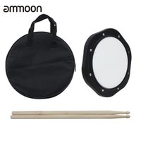 Wholesale ammoon Inch Drum Practice Pad with Drumsticks Carrying Bag for Training