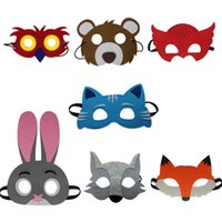 Wholesale Special Assorted Felt Animals Masks for birthday gifts party Christmas costume Favors school concert for all set masks