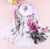 Wholesale the new Fashion Stylish Women Long Soft Silk Chiffon Scarf Wrap Shawl Scarves