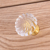 acrylic drawer knobs - 29mm modern simple fashion clear acrylic drawer shoe cabinet knobs pulls gold bedside table dresser door handles knobs