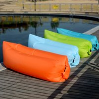 Wholesale Fast Inflatable Air Sleeping Bag Waterproof Lazy Sofa Bed Festival Camping Hiking Travel Hangout Beach Bag Banana Couch Chair