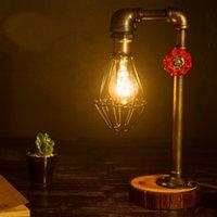 Wholesale Hot sale Vintage Table Lamp Light Bulb Vintage Personalized Water Pipe Desk