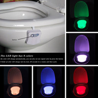 Wholesale 8 Colors LED Toilet Nightlight Motion Activated Light Sensitive Dusk to Dawn Battery operated Lamp lamparas d tooth lamp