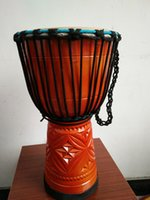 Wholesale Hand carved Djembe standard inch goatskin drum drum