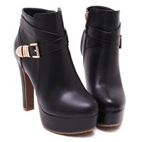 Wholesale The new autumn and winter Martin boots with high heeled with high heels and nude water boots women s boots
