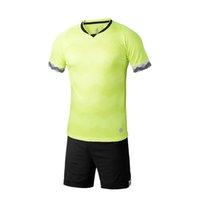 Precio de Camiseta para correr verde-Hombres 2017 seco rápido Entrenamiento Camisetas deportivas Equipos de fútbol para adultos conjuntos de fútbol Camisetas de fútbol transpirables Verde fluorescente