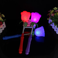 Magic star light France-Creative Star Amour Cœur Rose Fleur Clignotante Lumière LED Baguette Baguettes Glow Gave Stick Magic Toys Xmas Party Concert Fournitures ZA1459