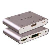 apple tv av adapter - Lamchin Loly Aluminum Alloy Multifunction Conversion Phone PC to HDMI HDTV TV VGA Video Audio Digital AV Adapter for iphone Samsung