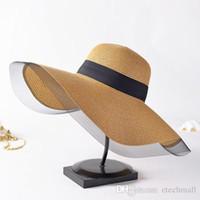 Red de hilo de alas blancas sombrero de paja al por mayor femenina verano sol sol sombra ola borde playa playa playa playa vacaciones gran sombrero