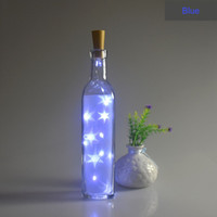 Wholesale hot led bottle stopper string lights for bar party home decoration battery powered christmas lights