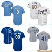 Wholesale 2017 New Season Kansas City Royals Custom Jersey Danny Duffy Joakim Soria Mike Minor Flex Base Cool Base Baseball Jerseys Mix Order