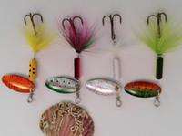 bait catfish - Metal Spinner Fishing Bait Spoon Fishing lure Silver Catfish Bass Lures Rotation