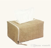 Wholesale Promotional tissue box holder for home decoration Cotton linen fabric tissue box Cotton linen tissue box