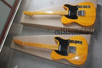 Wholesale New style Yellow telecaster electric guitar in stock strings guitar In Stock