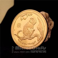 australian gifts souvenirs - 2016 Year of the Monkey gold coins Australian commemorative replica coin