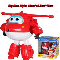 Wholesale Big Size ABS Super Wings Deformation Airplane Robot Action Figures Super Wing Transformation toys for children gift No original Box