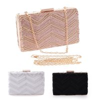 aluminum envelopes - New Women Evening Bag Day Clutches Aluminum Mesh Envelope Flap Bags Sequined Long Chain Handbags Korean Fashion