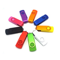 Wholesale Black red green blue yellow Swivel usb flash drive stick disk pen drive customized logo engrave logo or color print logo GB GB GB GB