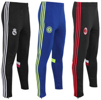 Wholesale Free delivery real Madrid training suit trousers pants black real Madrid football training pants thin leg movement