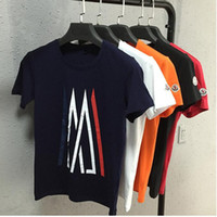 Cheap 100% Cotton T shirts Men Shorts Sleeve Brand Design Summer male Tops Tees Fashion Casual Monclers x Ami Tshirts For Man New Arrival