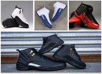 Wholesale mens White OVO Shoes French Gamma Blue Gym Basketball Air Retro Basket Ball Retros XII S Shoe Sneakers Red Black kids