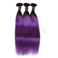 Wholesale 8A shiny purple silky straight remy virgin hair bundles fuller hair weave extensions popular african beauty hairstyles
