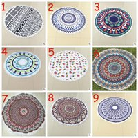 Wholesale 2017 Hot Styles Superfine Fiber Round Beach Towel cm Beach Swim Towels Bohemia Style Bikini Covers Blankets