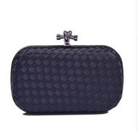 Vente en gros-dames de marque de luxe de conception faite à la main tricoté d'embrayage sac de soirée femmes de la mode des sacs à main d'embrayage du soir formelle.