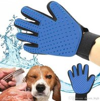 bathing products - Pet grooming True Touch Five Finger Deshedding Glove Dogs Bath Glove Making Pets Hair Cleanup dog cleaning products pets supply