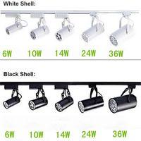 Wholesale Black White Shell W W W W W Led Track Lights Angle Warm Natural Cool White Led Ceiling Spot Lights AC V