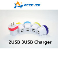 Wholesale 2USB USB V A Travel Charger Phone Charger Wall Charger Fast Charging for iPhone Galaxy S5 S7