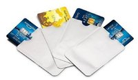 Wholesale Aluminum Anti RFID Blocking Sleeve Credit Card Holder Protect your money and ID