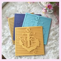Wholesale laser cut anchor design sea theme navigation sailing party decoration paper craft wedding invitation card QJ