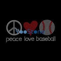 Crown baseball rhinestone iron on transfers - Diy Craft Peace Love Baseball Rhinestone Transfer Iron On Hot Fix Applique