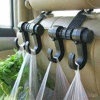 automobile headrests - Auto Car Seat Headrest Hanger Bag Hook Holder For Bag Purse Cloth Grocery Automobile Interior Accessories Auto Fastener Clip