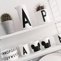 Wholesale New Lovely Children Milk Alphabet Mug Design Letters Baby Drink Cup Safety