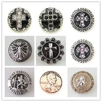 Wholesale Partnerbeads NOOSA mm Cross with Rhinestone Colors Vintage Snap Jewelry KB8885