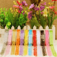 Wholesale DIY Candy Colors Hot Lace Tape Decoration Roll Decorative Paper Masking Tape Correction Tape