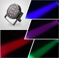 Wholesale 18W DMX512 RGB flat LED Stage Par Light Laser Light DJ Disco Light Moving Head