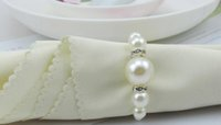 Wholesale New AAA Quality White Pearls Napkin Rings Hotel Wedding party Accessories Table Decorations supplies